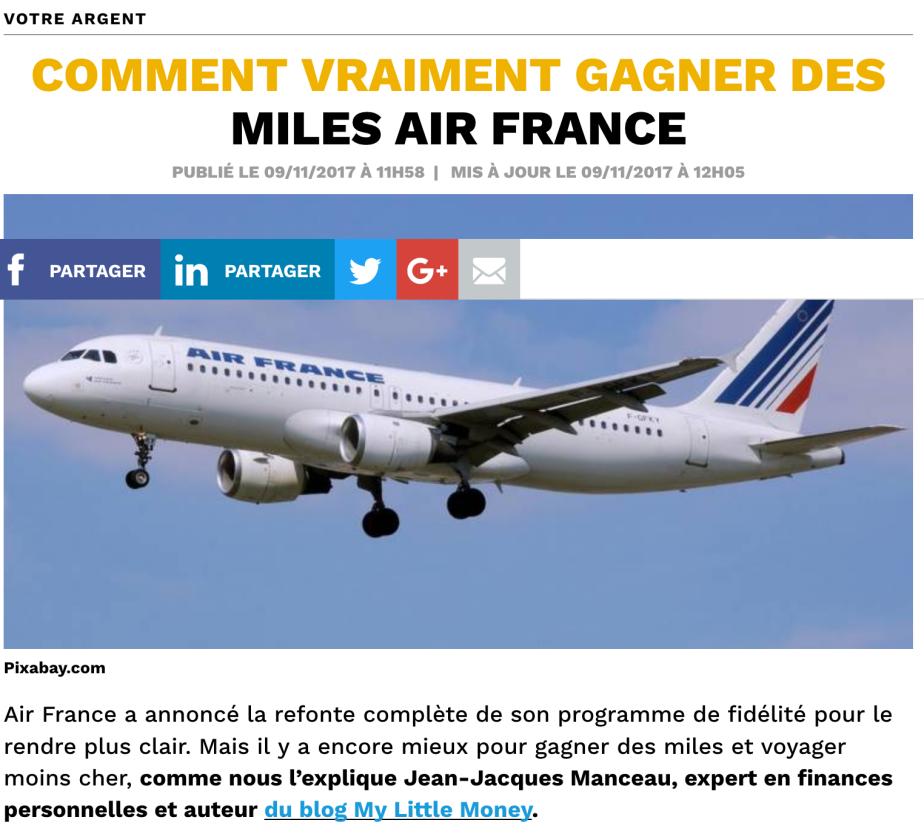 Comment vraiment gagner des miles Air France